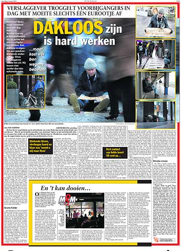 <strong>Dakloos zijn is hard werken</strong>