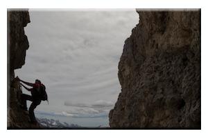 Klettersteig in de Dolomieten