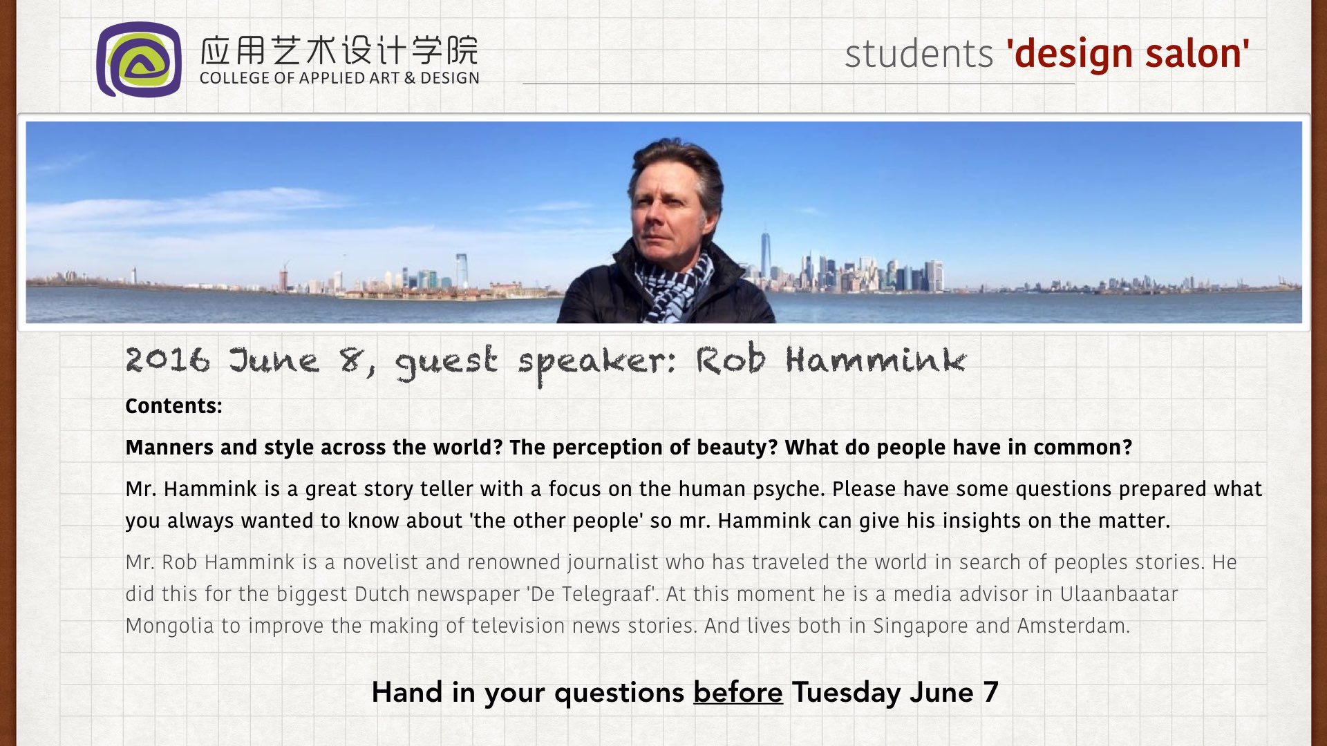 Lecture China Shanghai
